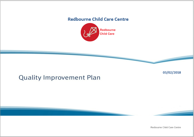 Quality Improvement Plan Cover