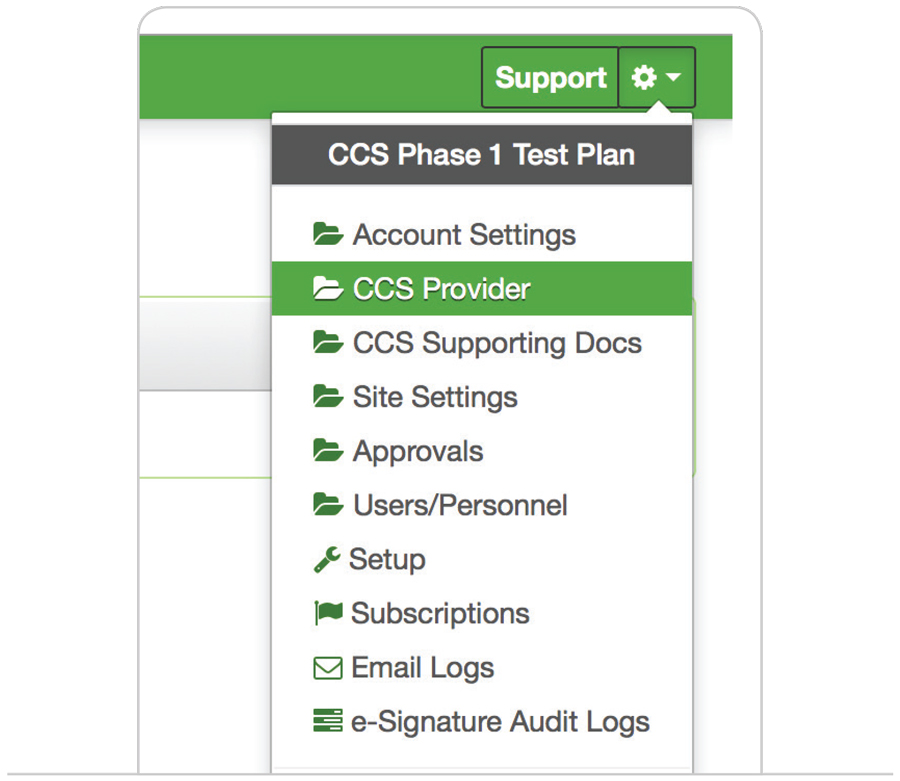 Child Care Central software screen shot showing the tab that is used to set up an approved provider under CCSS and activate their new CCS Approval via Child Care Central.