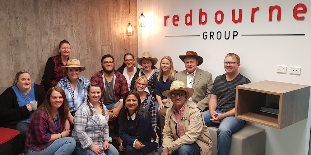 The Redbourne Group dressed up as Farmers to Help affected farmers